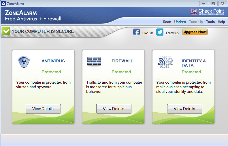 ZoneAlarm Free Antivirus + Firewall full screenshot