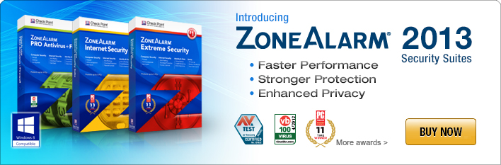 ZoneAlarm 2013 Security Suites