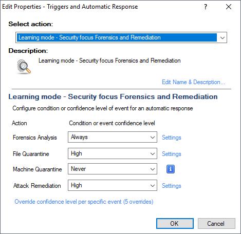 SandBlast Agent Learning Mode Configuration