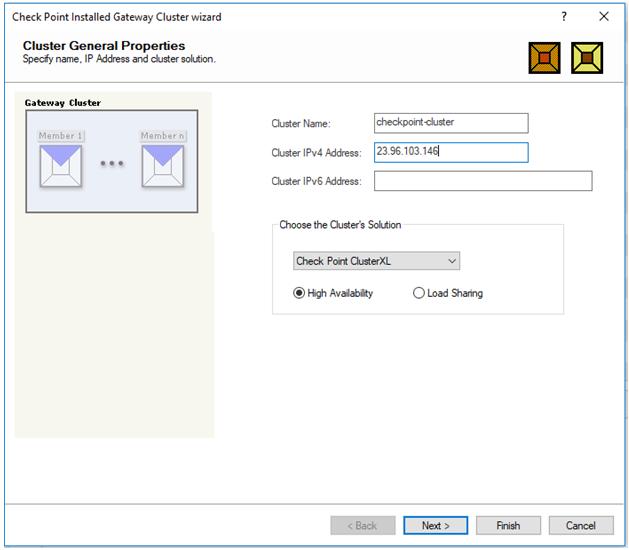 Checkpoint azure vpn configuration