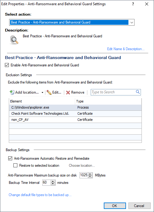 SandBlast Agent Best Practice Configuration