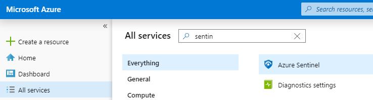 Azure Sentinel / Azure Log Analytics: Example configuration