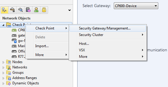 How to configure the External Security Log Server on Locally Managed