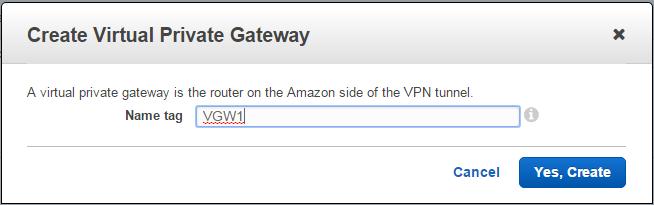Amazon Web Services (AWS) VPN BGP