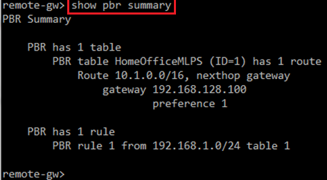 Policy-Based Routing (PBR) on Gaia OS