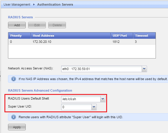 How to configure RADIUS authentication between Gaia OS and