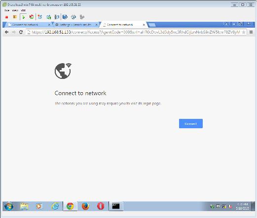Captive Portal redirection fails in Google Chrome