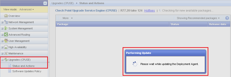 updating codes please wait