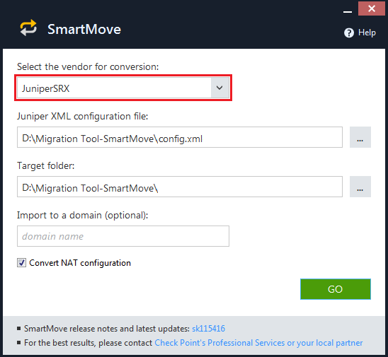 How to migrate a competitor's database to Check Point with