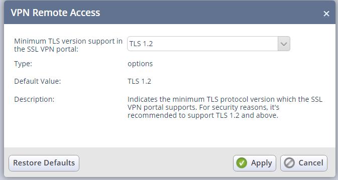 Cannot establish connection to SSL Network Extender gateway