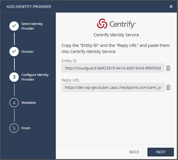 How to configure Office 365 and Centrify with CloudGuard