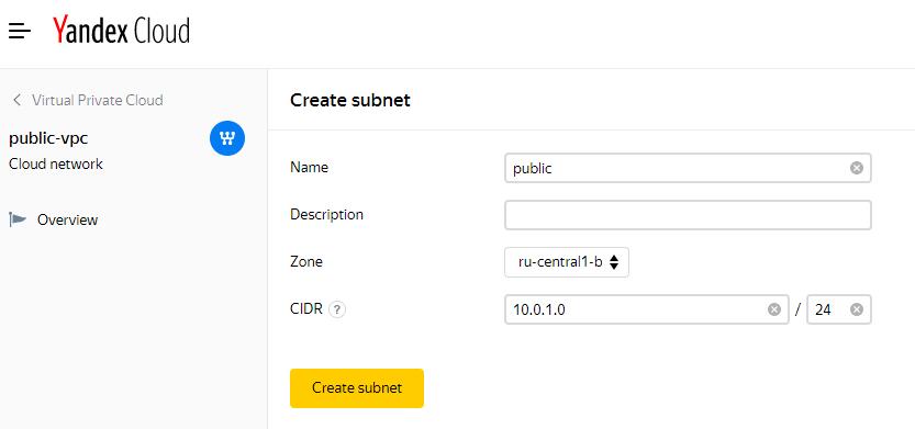 Create Subnet
