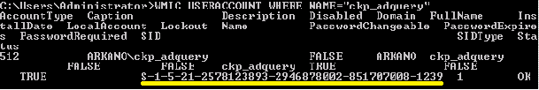DSQUERY COMMAND TO KNOW THE CLIENT PC SID