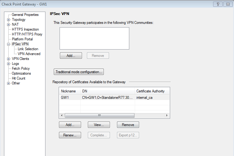 Checkpoint remote access vpn configuration r75