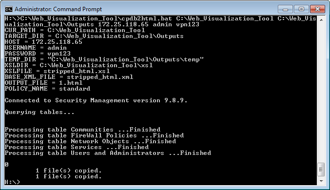 Exporting Check Point configuration from Security Management Server
