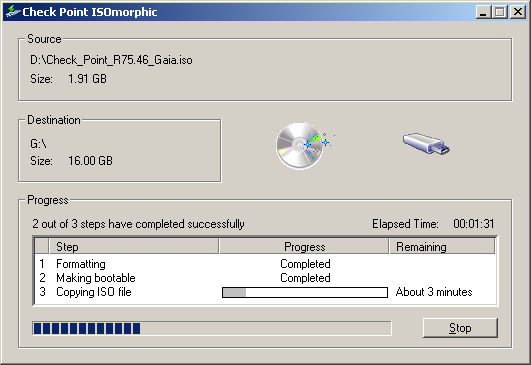 ISOmorphic progress screen