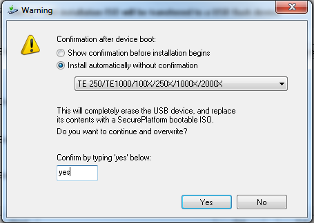 How to install SecurePlatform / Gaia from a USB device on Check