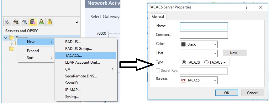TACACS+ support in Gaia OS