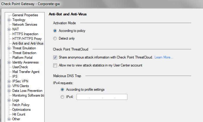 Checkpoint vpn hub mode configuration