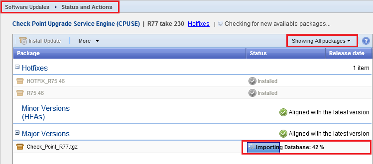 Check Point Upgrade Service Engine (CPUSE) - Gaia Deployment Agent