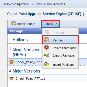 Check Point Upgrade Service Engine (CPUSE) - Gaia Deployment