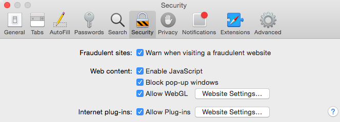 Troubleshooting Network Extender in Safari : Information
