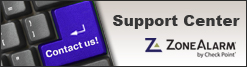 ZoneAlarm Support Center